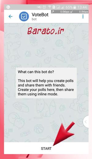 Polls%20in%20robot Telegram1 آموزش تصویری ایجاد نظرسنجی در کانال تلگرام و گروه