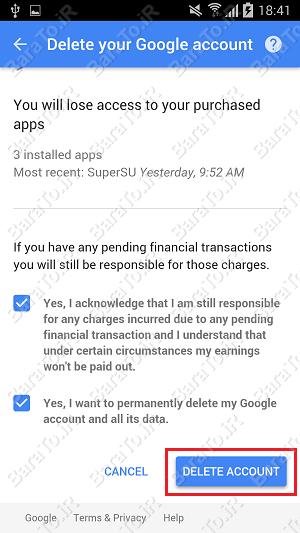 آموزش حذف اکانت جیمیل از گوشی اندروید + بازیابی