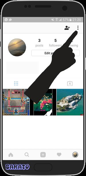 آموزش تصویری تغییر رمز اینستاگرام اندروید