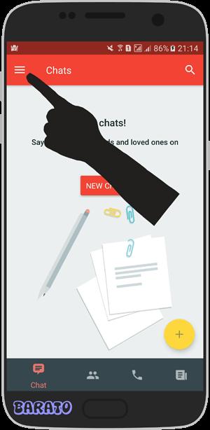 آموزش تصویری حذف اکانت بیسفون پلاس در اندروید