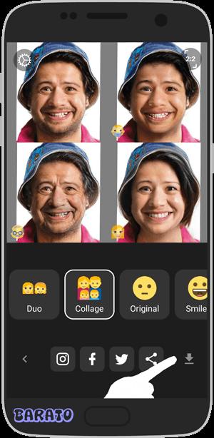 آموزش فیس اپ برنامه تغییر چهره در اندروید + تصویر