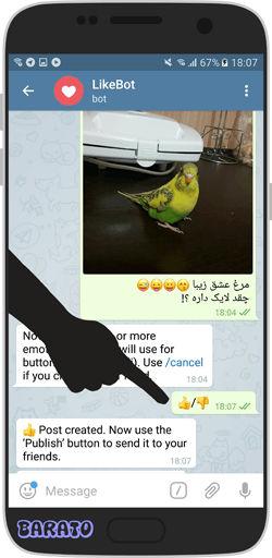 like channel telegram3 آموزش تصویری قرار دادن لایک برای پست کانال تلگرام و گروه
