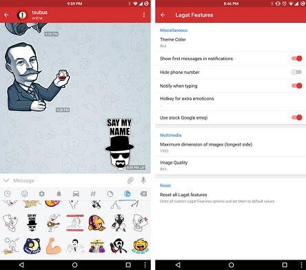 دانلود Lagatgram نسخه مود شده تلگرام اندروید