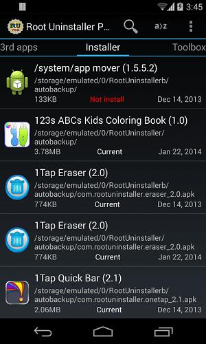 دانلود Root Uninstaller Pro حذف برنامه ها نصب شده از گوشی اندروید