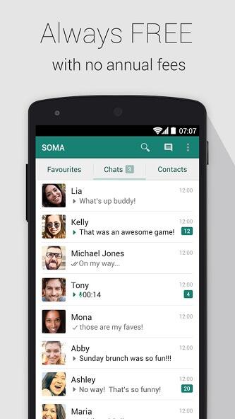 دانلود SOMA Messenger برنامه سوما مسنجر اندروید