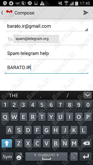 پشتیبانی تلگرام برای ارسال ایمیل و حل مشکل ارسال پیام