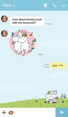 دانلود Moomin تم جدید برای مسنجر لاین