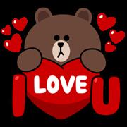 LINE characters : Love U
