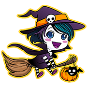 Anna Blues Halloween Emoticons